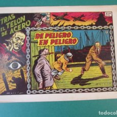 Tebeos: TRAS EL TELON DE ACERO (1952, TORAY) 3 · 1954 · DE PELIGRO EN PELIGRO. Lote 172657725