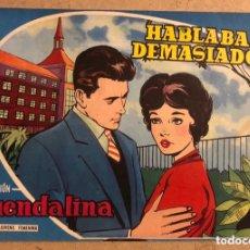 Tebeos: GUENDALINA N° 55 HABLABA DEMASIADO, MARIO VISCONTI EN CONTRAPORTADA (EDICIONES TORAY 1959).. Lote 172662417