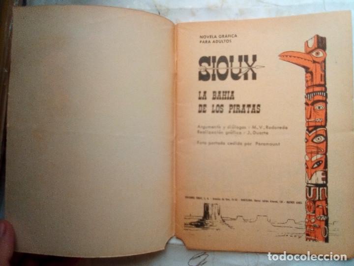Tebeos: SIOUX- Nº 61 - LA BAHÍA DE LOS PIRATAS-1966-GRAN JOSÉ DUARTE-BUENO-MUY DIFÍCIL-LEAN-1687 - Foto 5 - 172677877
