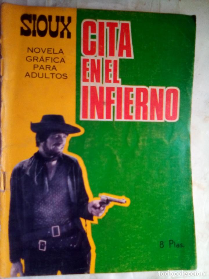 SIOUX- Nº 78 - CITA EN EL INFIERNO-1967-GRAN A. MÁS-CORRECTO-MUY DIFÍCIL-LEAN-1688 (Tebeos y Comics - Toray - Sioux)