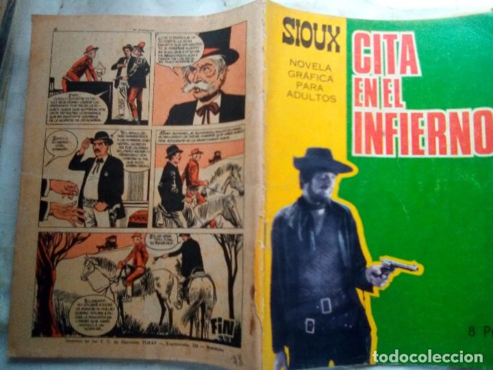Tebeos: SIOUX- Nº 78 - CITA EN EL INFIERNO-1967-GRAN A. MÁS-CORRECTO-MUY DIFÍCIL-LEAN-1688 - Foto 2 - 172679497