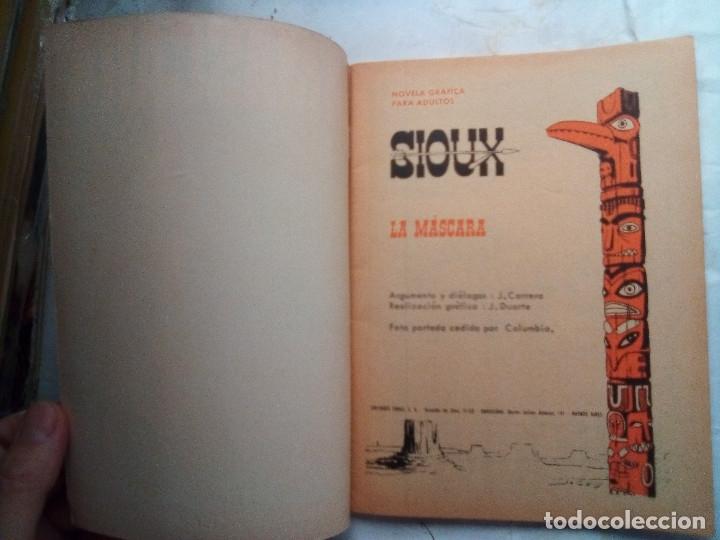 Tebeos: SIOUX- Nº 83 - LA MÁSCARA -1967-GRAN JOSÉ DUARTE-CASI BUENO-ÚNICO EN TODOCOLECCIÓN-LEAN-3553 - Foto 4 - 216802070
