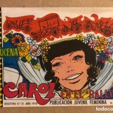 Tebeos: AZUCENA N° 1163 CAROL EN EL RALLYE (EDICIONES TORAY 1970).. Lote 172729028