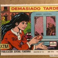 Tebeos: AZUCENA N° 1150 DEMASIADO TARDE (EDICIONES TORAY 1970).. Lote 172729265