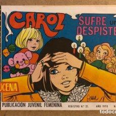 Tebeos: AZUCENA N° 1141 CAROL SUFRE UN DESPISTE (EDICIONES TORAY 1970).. Lote 172729480
