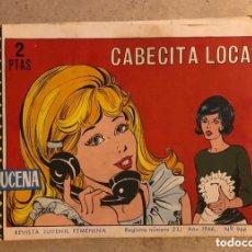 Tebeos: AZUCENA N° 966 CABECITA LOCA (EDICIONES TORAY 1966).. Lote 172730348