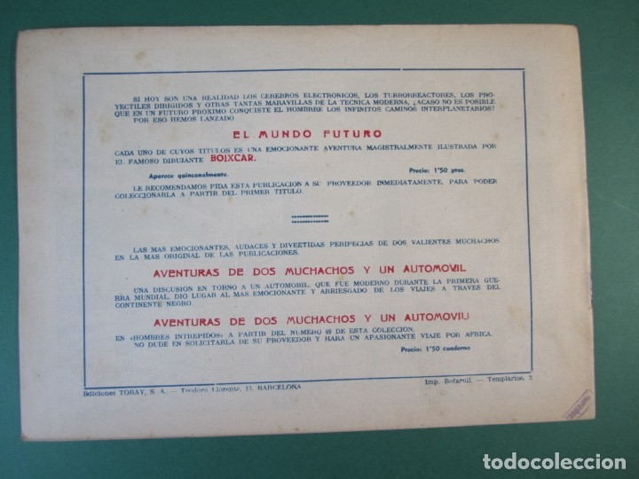 Tebeos: MUNDO FUTURO, EL (1955, TORAY) 11 · 1955 · CAZADORES SIDERALES - Foto 2 - 172785339