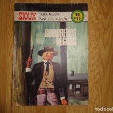 Livros de Banda Desenhada: COLECCION SIOUX 'SOMBREROS NEGROS' Nº 179. Lote 173198157