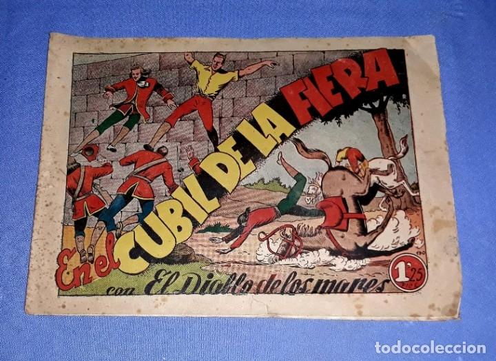 EN EL CUBIL DE LA FIERA EL DIABLO DE LOS MARES EDIT. TORAY AÑOS 40 ORIGINAL VER FOTO Y DESCRIPCION (Tebeos y Comics - Toray - Diablo de los Mares)