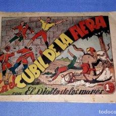 BDs: EN EL CUBIL DE LA FIERA EL DIABLO DE LOS MARES EDIT. TORAY AÑOS 40 ORIGINAL VER FOTO Y DESCRIPCION. Lote 173397415