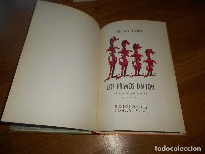 Tebeos: LUCKY LUKE. LOS PRIMOS DALTON. LOMO DE TELA . EDICIONES TORAY 1969-2ª EDICION. - Foto 2 - 173444229