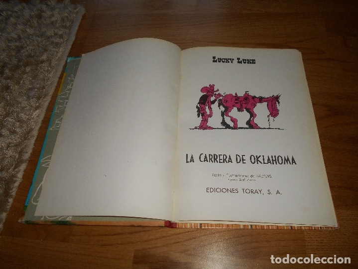 Tebeos: Lucky Luke. La carrera de Oklahoma. Segunda edición. 1969. Toray. - Foto 2 - 173445053