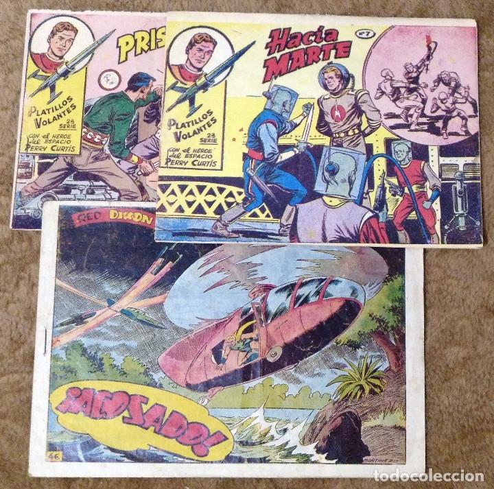 PLATILLOS VOLANTES Nº 3 Y 7 (1963) Y RED DIXON Nº 46 (1954) (Tebeos y Comics - Toray - Mundo Futuro)