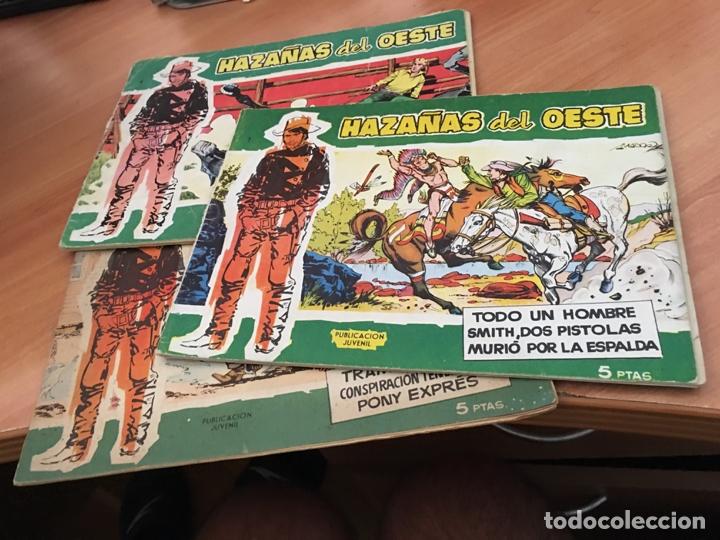 HAZAÑAS DEL OESTE LOTE Nº 1, 4 Y 10 (ORIGINAL TORAY) (COIB23) (Tebeos y Comics - Toray - Hazañas del Oeste)