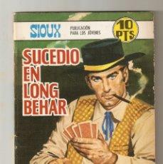 Tebeos: SIOUX - Nº 108 - SUCEDIO EN LONG BEHAR - EDICIONES TORAY - 1968 -. Lote 173969368