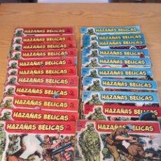 Tebeos: HAZAÑAS BÉLICAS 21 EJEMPLARES. Lote 174026629