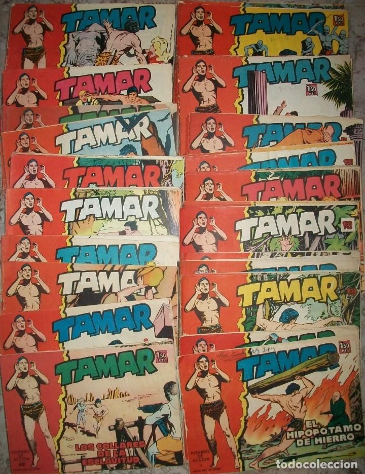 TAMAR LOTE DE 103 NUMEROS DIFERENTES (Tebeos y Comics - Toray - Tamar)