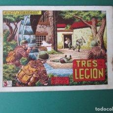 Tebeos: HAZAÑAS BELICAS (1950, TORAY) -2ª- 117 · 3-XII-1954 · EXTRAORDINARIO - TRES DE LA LEGION. Lote 174469897