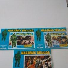 Tebeos: LOTE 3 CÓMICS HAZAÑAS BÉLICAS 1973 TAPA AZUL. Lote 175602407