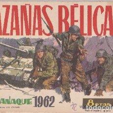 Tebeos: HAZAÑAS BELICAS ,ALMANAQUE 1962. Lote 176057718