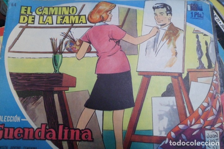 COLECCIÓN GUENDALINA Nº 64 TORAY REVISTA JUVENIL FEMENINA AÑOS 50 (Tebeos y Comics - Toray - Guendalina)