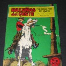 Tebeos: HAZAÑAS DEL OESTE - NÚM. 153 - REG. NÚM. 100 - 1967 - ED. TORAY. Lote 206765152