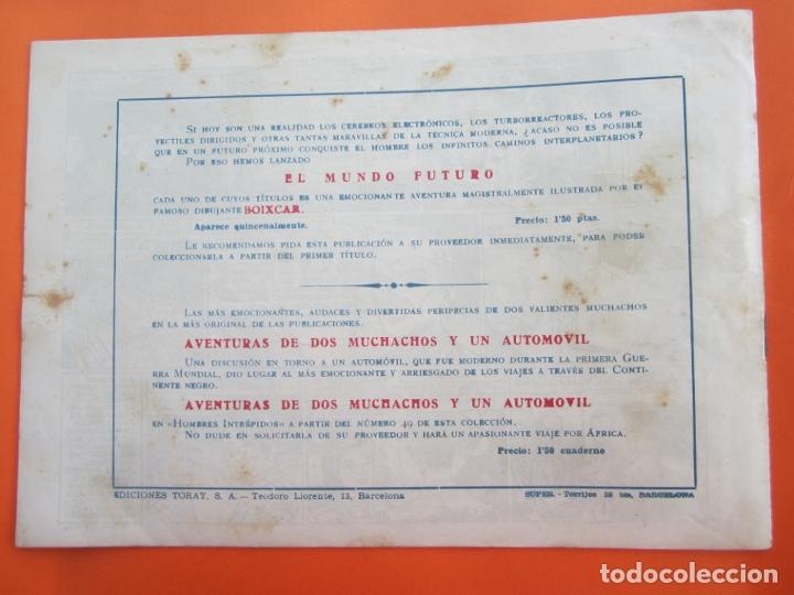 Tebeos: EL MUNDO FUTURO EDITORIAL TORAY DIBUJADO POR BOIXCAR Nº 20 , 1955 - Foto 3 - 177128567