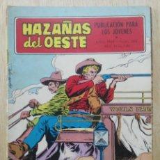 Tebeos: HAZAÑAS DEL OESTE - Nº 188 - ED. TORAY. Lote 177638113