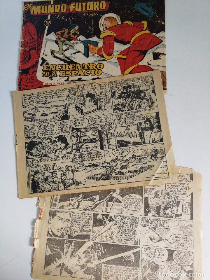 Tebeos: EL MUNDO FUTURO Nº 96: ENCUENTRO EN EL ESPACIO - DIBUJOS BOIXCAR (ED. TORAY 1955) - Foto 3 - 177725987