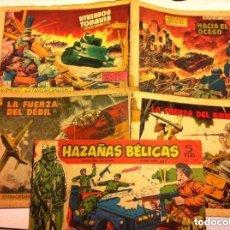 Tebeos: HAZAÑAS BÉLICAS -2ª SERIE - LOTE DE 9 - USADOS CON CELO EN LOMO. Lote 177732523