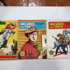 Tebeos: HAZAÑAS DEL OESTE. EDICIONES TORAY. AÑOS 1965,1968 Y 1969. Lote 177858098