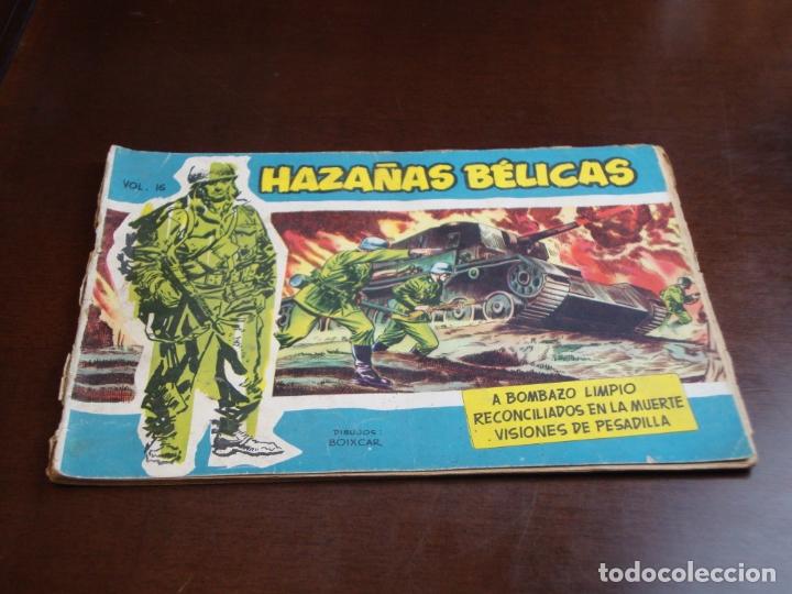 HAZAÑAS BELICAS AZUL Nº 16 LOMO UN POCO ABIERTO (Tebeos y Comics - Toray - Hazañas Bélicas)