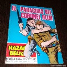 Tebeos: EL PARAGUAS DEL CORONEL BLIM. HAZAÑAS BELICAS. NUMERO 186. . Lote 178747861
