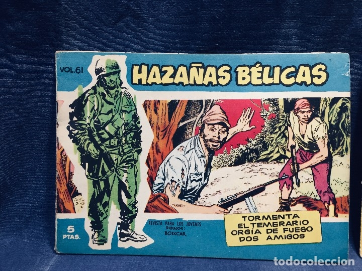 Tebeos: hazañas bélicas ediciones toray lote 5 tebeos cómimc en blanco y negro 1961 - Foto 2 - 178766626