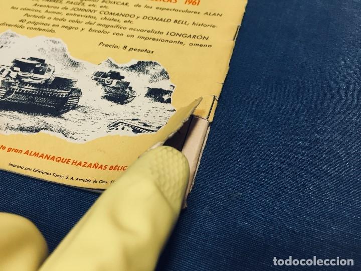 Tebeos: hazañas bélicas ediciones toray lote 5 tebeos cómimc en blanco y negro 1961 - Foto 4 - 178766626