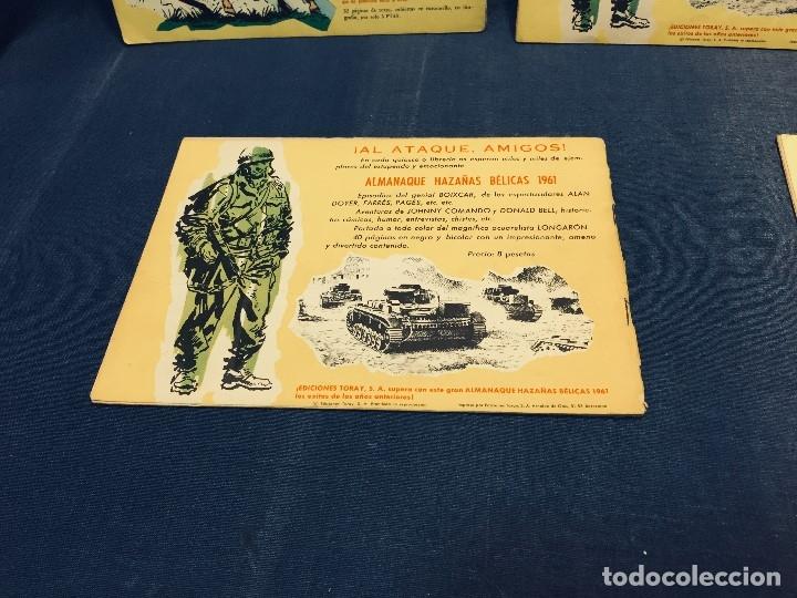 Tebeos: hazañas bélicas ediciones toray lote 5 tebeos cómimc en blanco y negro 1961 - Foto 5 - 178766626