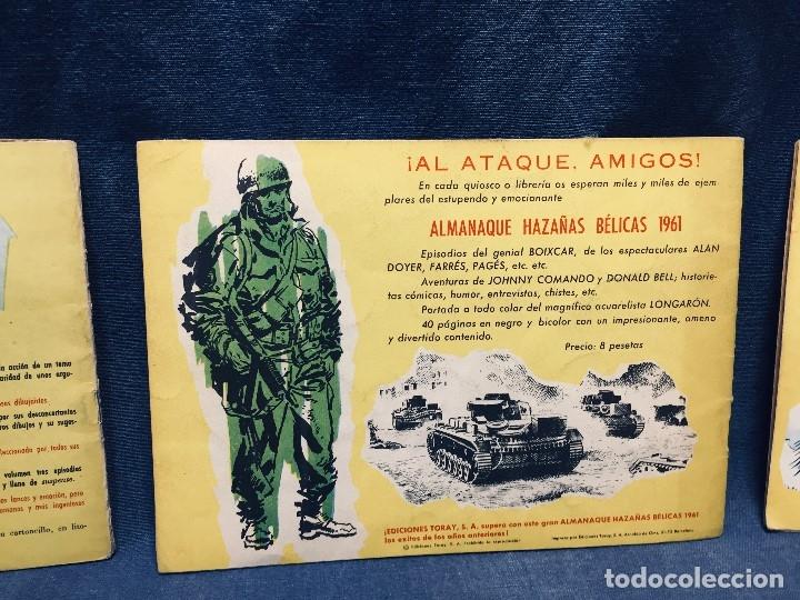 Tebeos: hazañas bélicas ediciones toray lote 5 tebeos cómimc en blanco y negro 1961 - Foto 8 - 178766626