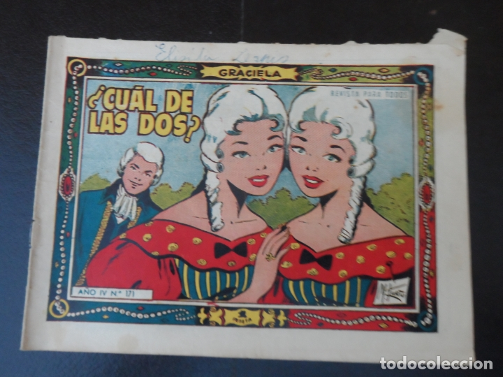 COLECCION GRACIELA Nº 171 - EDICIONES TORAY 1958 (Tebeos y Comics - Toray - Graciela)