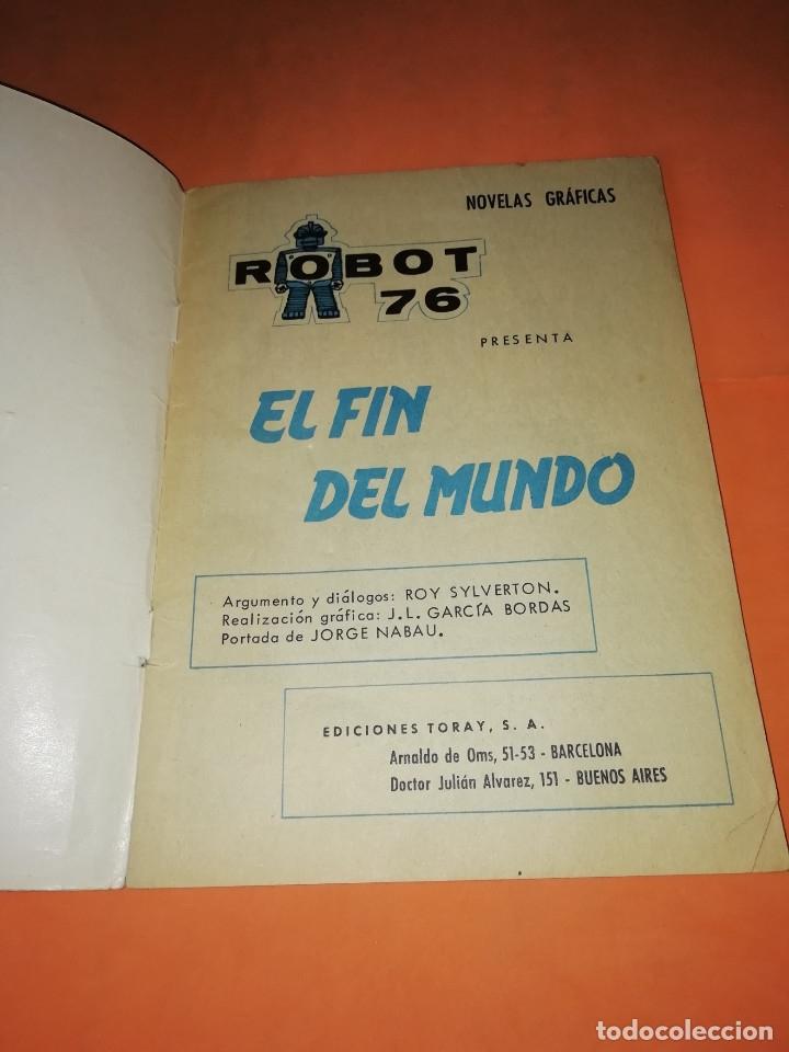 Tebeos: ROBOT 76 . EL FIN DEL MUNDO. 1967. TORAY. GRAPA. - Foto 3 - 180007797