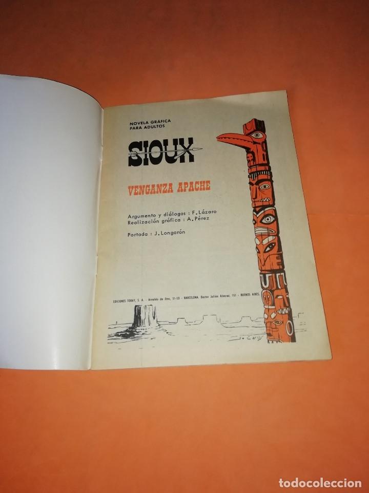 Tebeos: VENGANZA APACHE. SIOUX. TORAY 1967. Nº 85. BUEN ESTADO - Foto 3 - 180008053