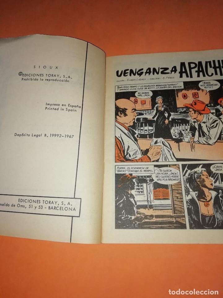 Tebeos: VENGANZA APACHE. SIOUX. TORAY 1967. Nº 85. BUEN ESTADO - Foto 4 - 180008053