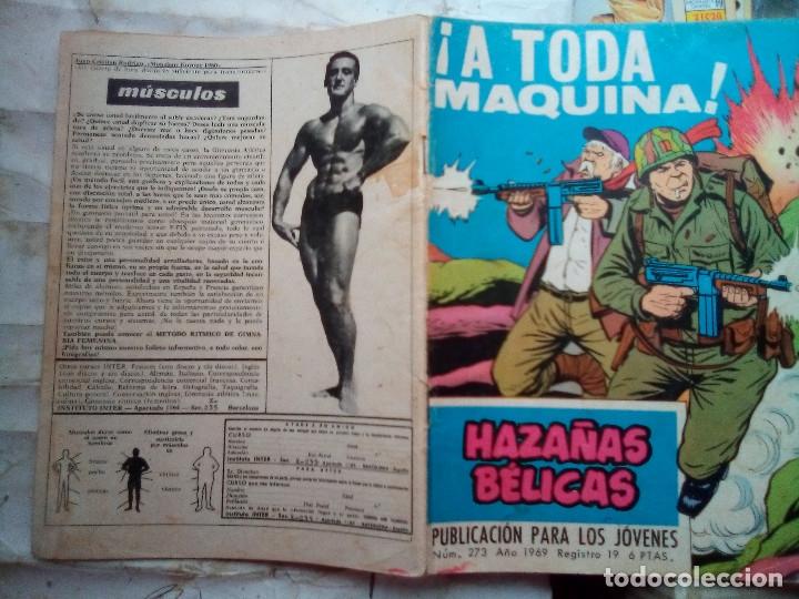 Tebeos: HAZAÑAS BÉLICAS- GORILA- Nº 273 -¡A TODA MÁQUINA!-GRAN ALAN DOYER-1969--DIFÍCIL-BUENO-LEAN-2053 - Foto 2 - 180159155