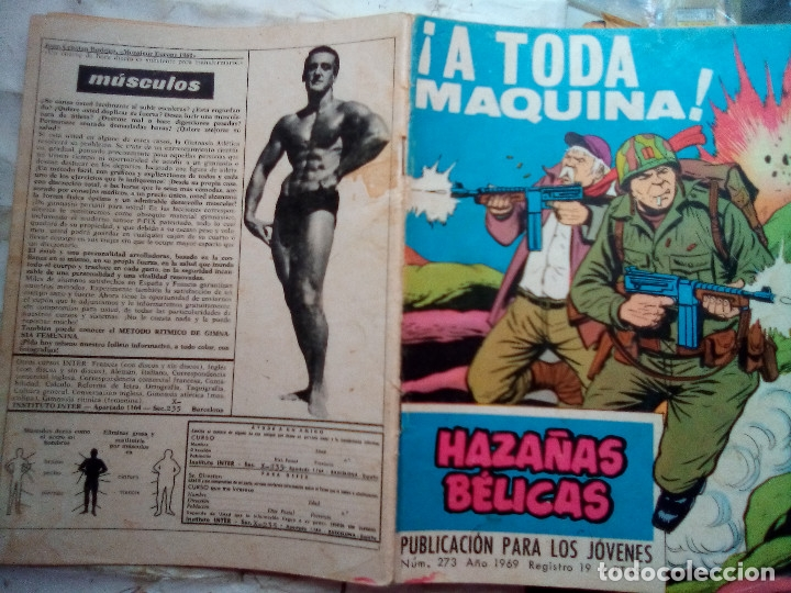Tebeos: HAZAÑAS BÉLICAS- GORILA- Nº 273 -¡A TODA MÁQUINA!-GRAN ALAN DOYER-1969--DIFÍCIL-BUENO-LEAN-2053 - Foto 6 - 180159155