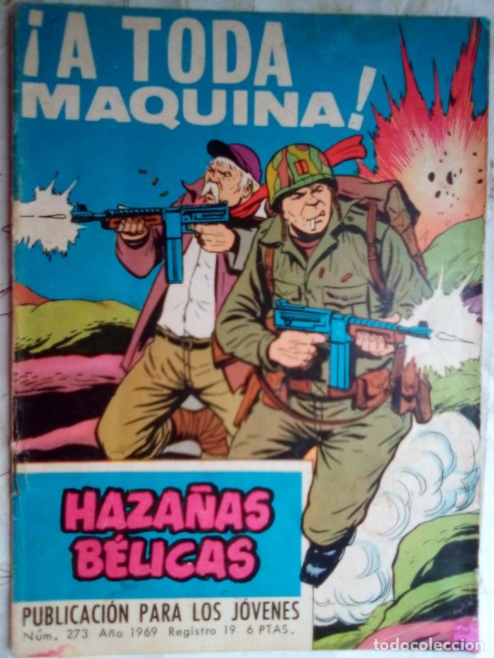 HAZAÑAS BÉLICAS- GORILA- Nº 273 -¡A TODA MÁQUINA!-GRAN ALAN DOYER-1969--DIFÍCIL-BUENO-LEAN-2053 (Tebeos y Comics - Toray - Hazañas del Oeste)