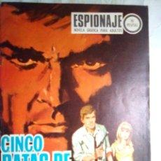 Tebeos: ESPIONAJE - Nº 65 -CINCO RATAS DE ORO- GRAN PEDRO BERTRÁN-1967-BUENO-MUY DIFÍCIL- ESCASO-LEAN-2210. Lote 180269682