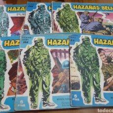 Tebeos: LOTE DE 6 COMICS ANTIGUOS HAZAÑAS BELICAS 1958. Lote 181184562