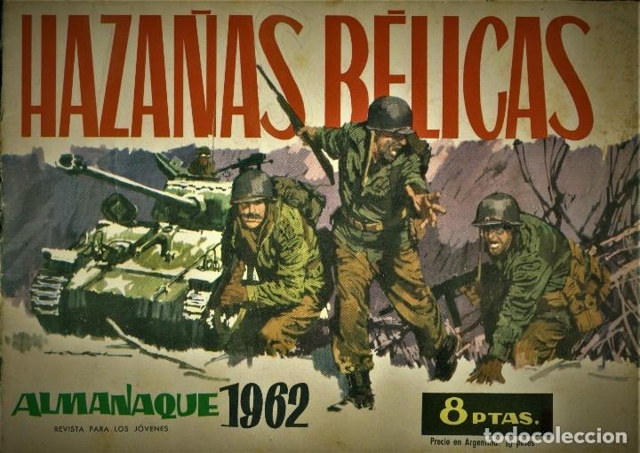 HAZAÑAS BÉLICAS: ALMANAQUE PARA 1962 (TORAY) PORTADA DE LONGARÓN (Tebeos y Comics - Toray - Hazañas Bélicas)