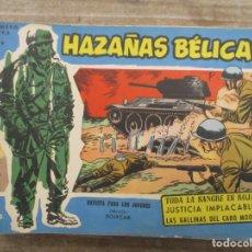 Tebeos: HAZAÑAS BELICAS - NUMERO EXTRA AZUL - Nº 139 - BOIXCAR -TORAY. Lote 181765488