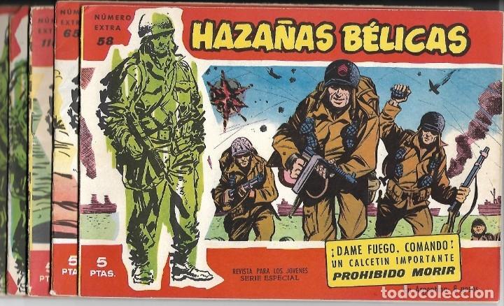 HAZAÑAS BELICAS ROJAS LOTE DE 5 TEBEOS ORIGINALES EN BUEN ESTADO - VER NÚMEROS-LEER ENVIOS (Tebeos y Comics - Toray - Hazañas Bélicas)