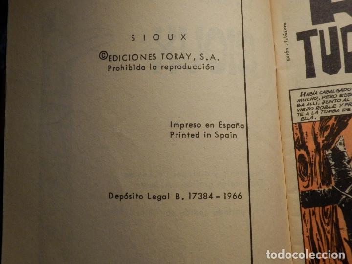 Tebeos: Tebeo - Comic - Novela Gráfica - Sioux - Nº 56 - Rio Turbulento - Toray 1966 - Foto 2 - 182647083